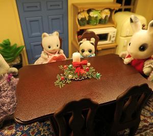 シルバニアサイズのクリスマスキャンドルもどきを作る