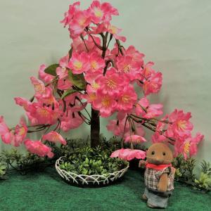 シルバニアサイズのなんちゃっての木を作る(しだれ桜編)