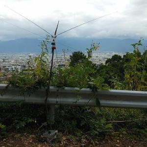 V型アンテナの調整に(10月6日・火曜日)