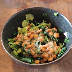 自家製野菜で昼食