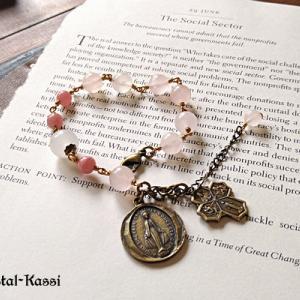NEW 「魂を癒す」アミュレット ロザリオブレスレット