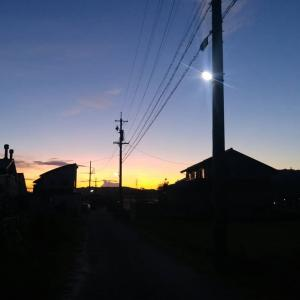 きれいな夕焼け、ナイトライド