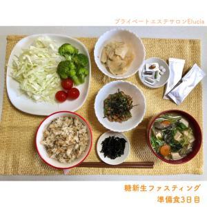 糖新生ファスティング・準備食3日目