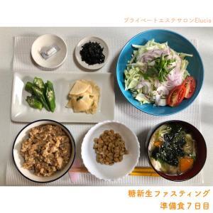 糖新生ファスティング・準備食7日目