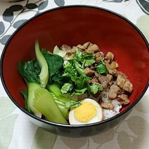 自宅で魯肉飯(ルーロー飯)‼️