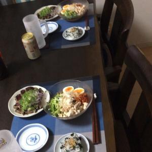 最近の夕飯、週末の台所事情、姉夫婦の夕飯覗き見してしまいました