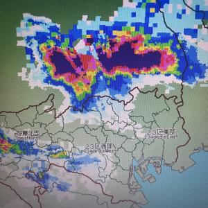 ゲリラ豪雨だ!