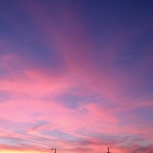 ++昨日の夕空と・・・*++