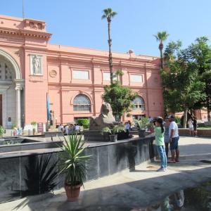9月2回目のエジプト考古学博物館は久し振りに欧米人グループ客が。