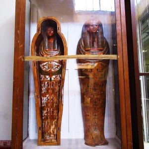 エジプト考古学博物館~装飾が美しい棺~