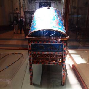 エジプト考古学博物館~イウヤの展示通路・チャリオットとジュエリーボックス~