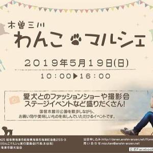 今週末は木曽三川わんこマルシェに出店予定です。