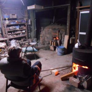 野田窯 炭化窯焚き。