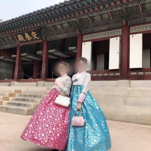 さくらと小雪の韓国食べ歩き
