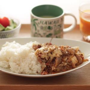 ミートソース丼 de 朝ごはん