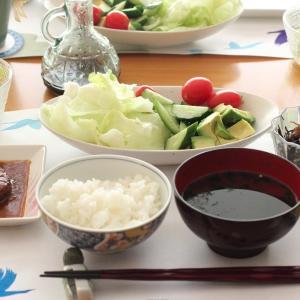 野菜大豆バーグ de 朝ごはん
