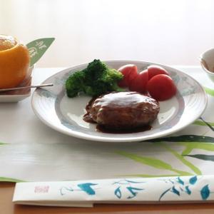 成城石井のチーズハンバーグ de 朝ごはん