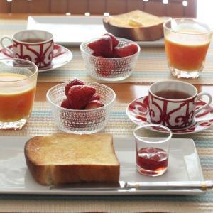 デ・リールのふた山食パンのトースト de 朝ごはん