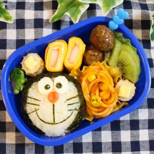 *幼稚園弁当(ドラえもん)*月に2回の幼稚園のお弁当の日今回は息子のリクエストで#...