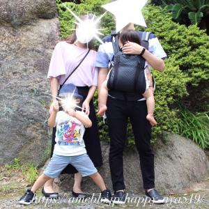 *感動した年少さんの父の日・縁起よさそうな神社の紫陽花♡*