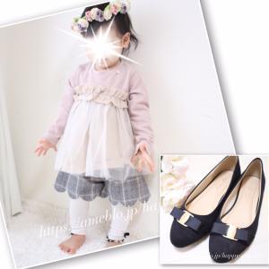 ❁{着画}プティマイン「チュールフリルドッキングT」・ママ靴♡*。゚❁