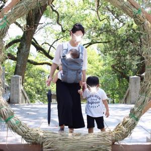 *家族で神社詣り・うどん屋さん*