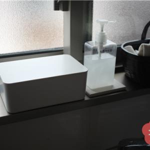 【無印】ウェットティッシュケースの置き場所。キッチン、カウンター、ダイニング、洗面所で4個使ってます!