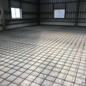 倉庫床面 コンクリート打設