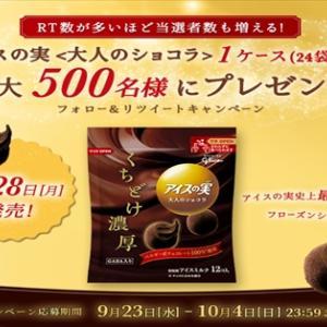 『グリコ アイスの実 大人のショコラ 1ケース(24袋入り)』が当たる!キャンペーン