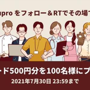 【バイトルPRO】『QUOカード500円分』が当たる!キャンペーン