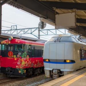 海と桜とメルヘン駅舎(里山里海号前面展望映像付き)