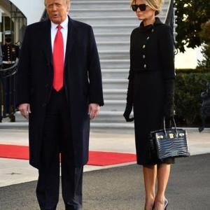 Melania Trump`s Birkin 25cm black Croco GP