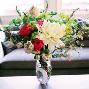 結婚記念日の大きな花束