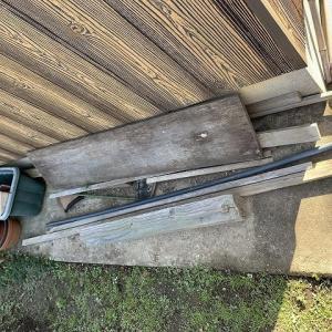 竹で屋外収納棚の作成