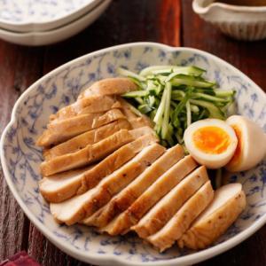 むね肉deうまだれ鶏チャーシュー【#作り置き #冷凍保存 #お弁当 #レンジ #やる気がない日の
