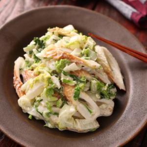 食べすぎ注意!白菜とちくわの和風サラダ【#作り置き #レンジ #大量消費 #副菜 #一正蒲鉾タイ