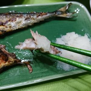 秋刀魚とぬか漬け。