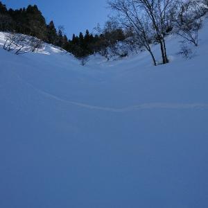 裏山スノーボード。