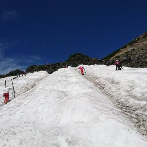 乗鞍大雪渓第1ステージ最終形態。
