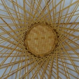 二重輪口編み花籠(瓢箪型)