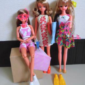 夏の美女3人