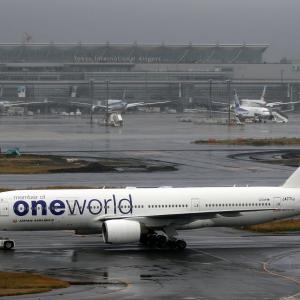 11月末の羽田空港で お初です。