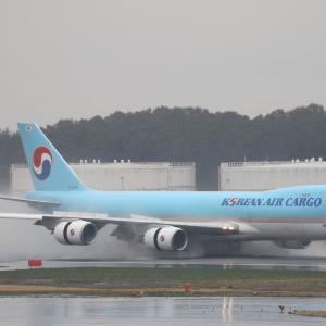 雨の成田空港・・・HONU2号もゲットだぜ。