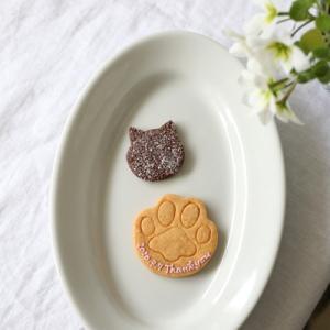 【キラキラ黒猫ちゃん&肉球クッキー】のweddingプチギフト♡渋谷区の会場へご発送♪