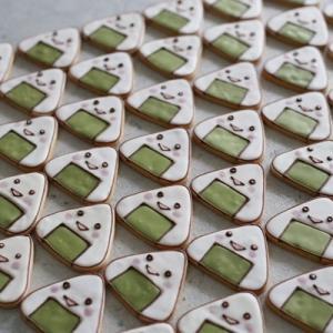 【おむすびの形でクッキー】吹奏楽の演奏会差し入れに♪大阪へご発送
