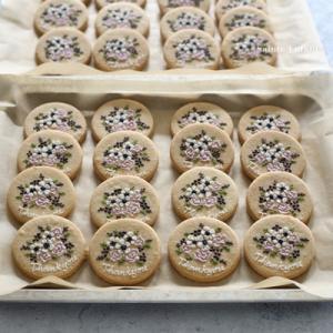 weddingのプチギフト♡【アンティーク色のブーケクッキー】愛知県からのご注文