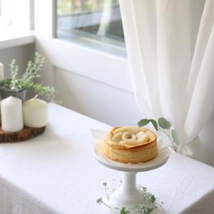 *受付終了*  季節のケーキ【桃と木苺のチーズケーキ仕立て】