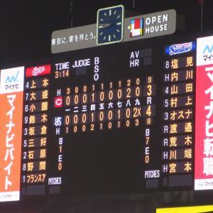 21年7月9日(金) S-C戦の結果