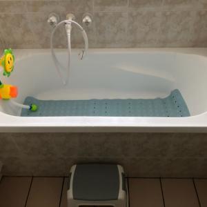 浴槽デビュー\( •̀ω•́ )/が、初日は失敗( ¯•ω•¯ )