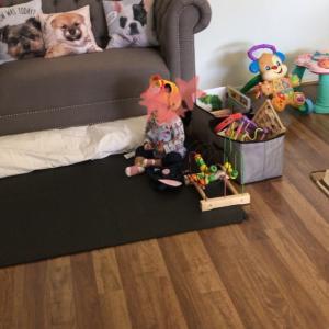 娘のおもちゃの置き方を変えたら、遊びの幅が広がった( ˊᵕˋ )♡